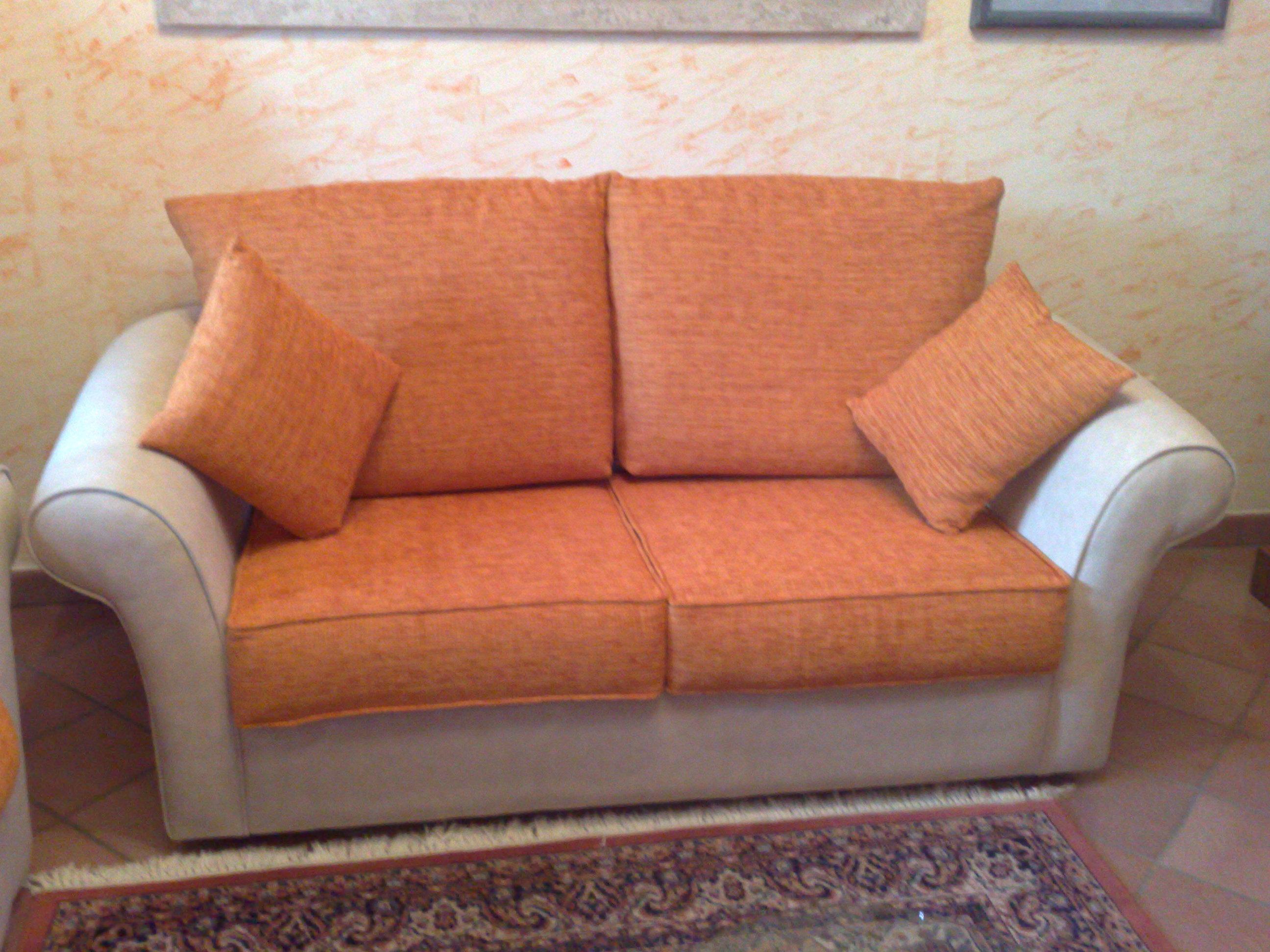 Divani In Pelle E Tessuto : Tappezzeria nicolini divano due posti bicolore scocca eco pelle