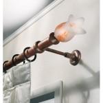 Bastone in ferro con terminale in vetro di Murano colorato Casa Valentina
